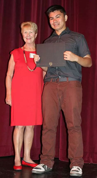 Judi with Riggie Casabar